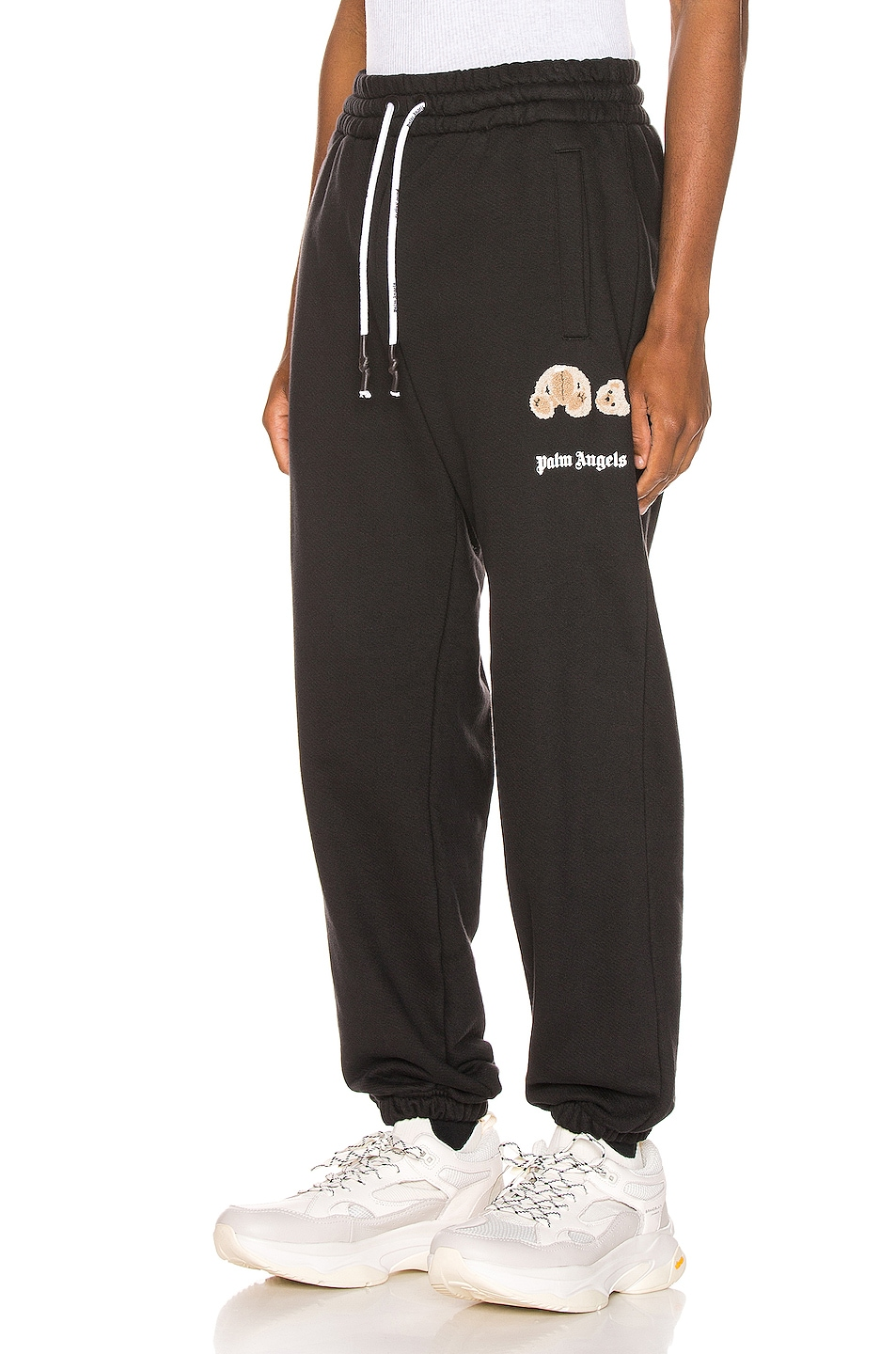 Image 1 of Palm Angels Mini Kill The Bear Sweatpants in Black Brow