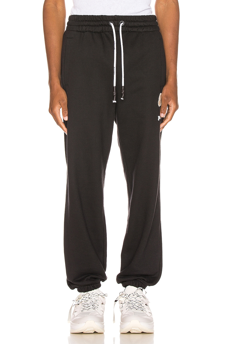 Image 2 of Palm Angels Mini Kill The Bear Sweatpants in Black Brow