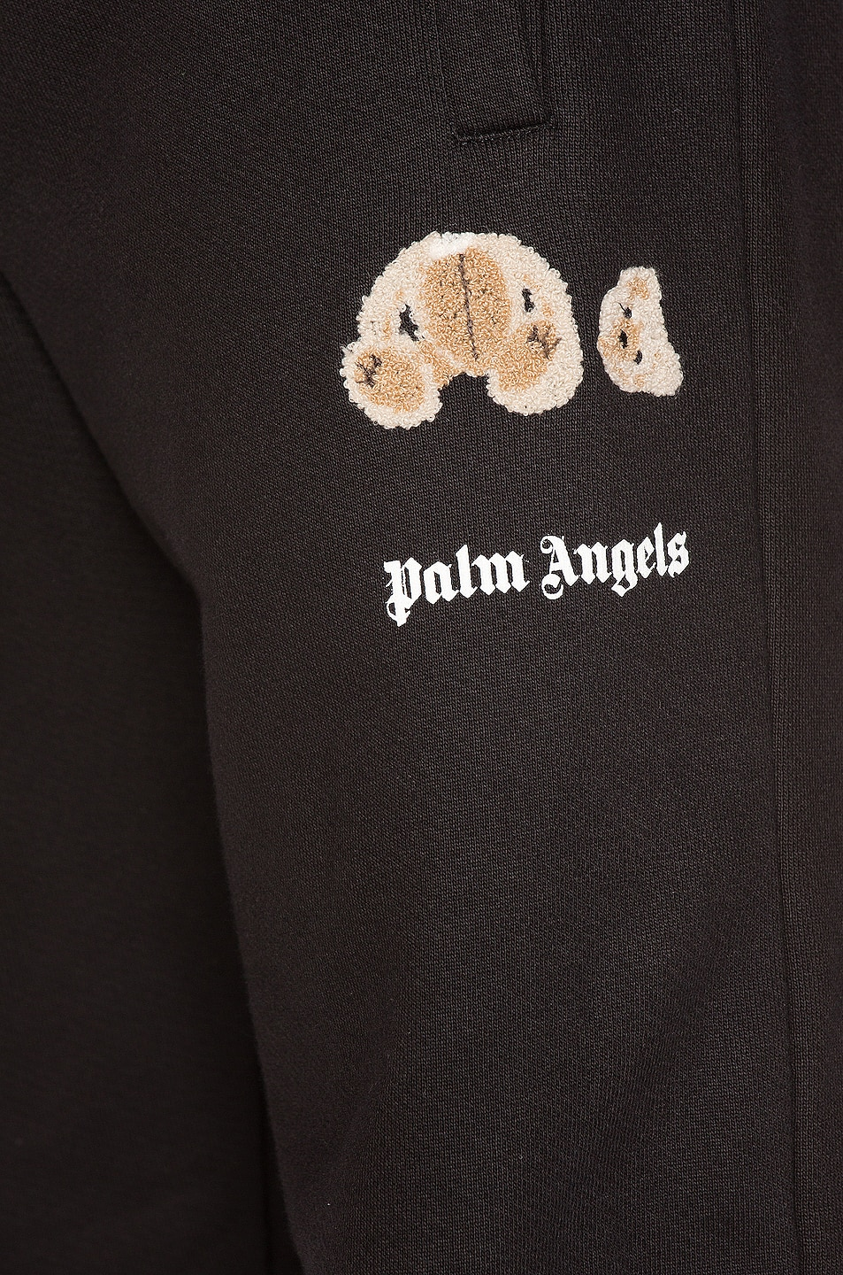 Image 6 of Palm Angels Mini Kill The Bear Sweatpants in Black Brow
