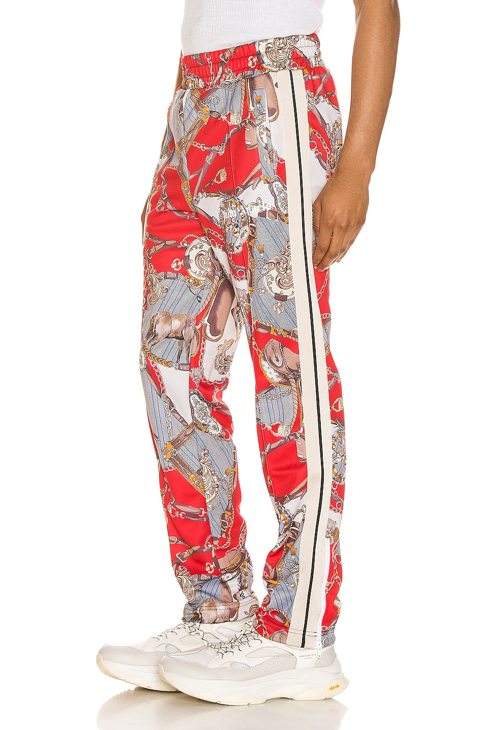 Image 3 of Palm Angels Hot Bridle Track Pants in Multi