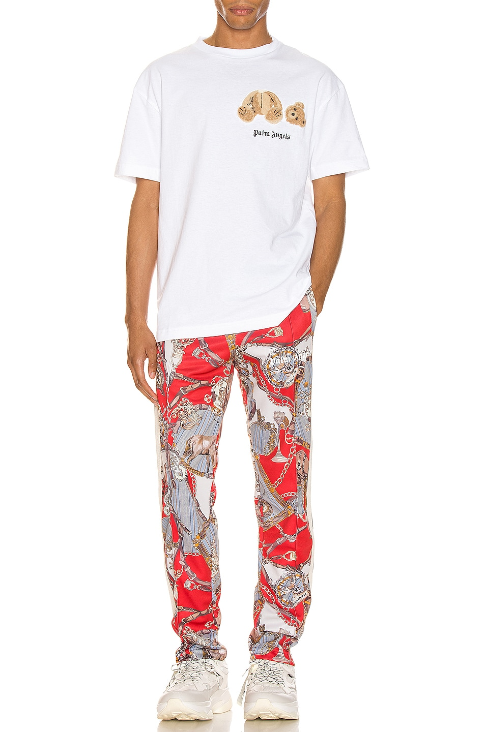Image 5 of Palm Angels Hot Bridle Track Pants in Multi