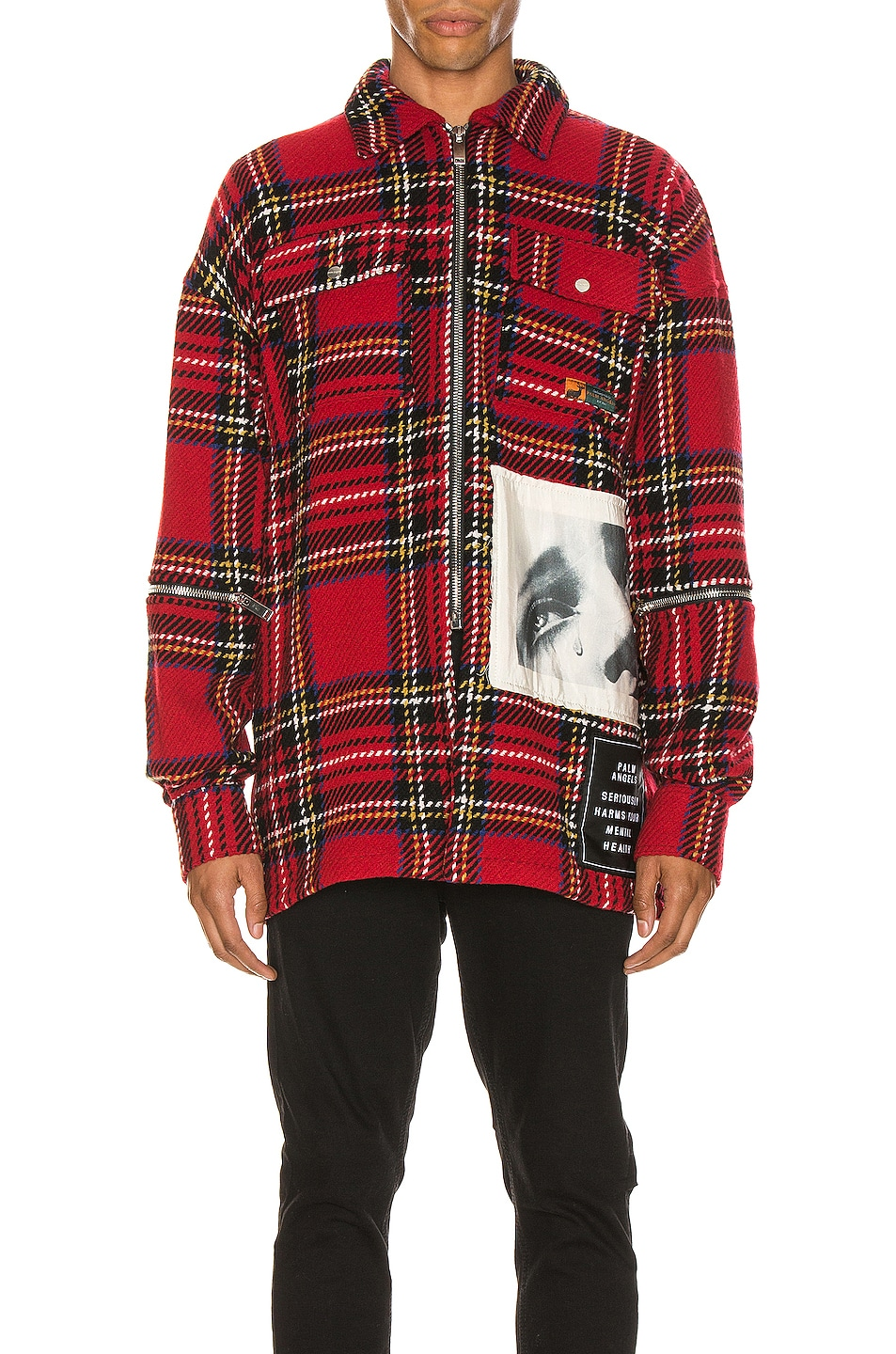 Image 1 of Palm Angels Checkered Overshirt in Multi
