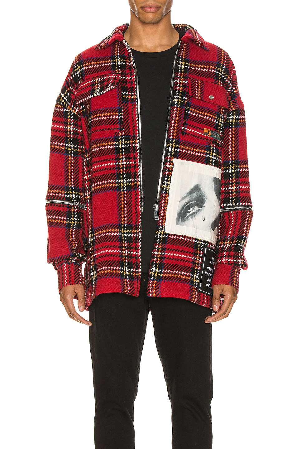 Image 2 of Palm Angels Checkered Overshirt in Multi
