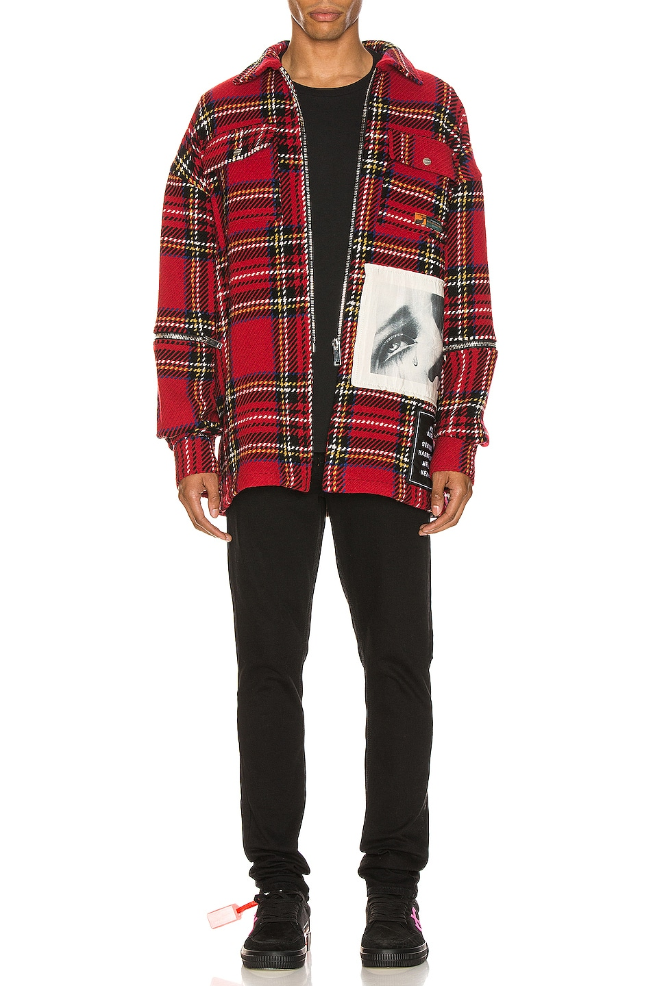 Image 6 of Palm Angels Checkered Overshirt in Multi
