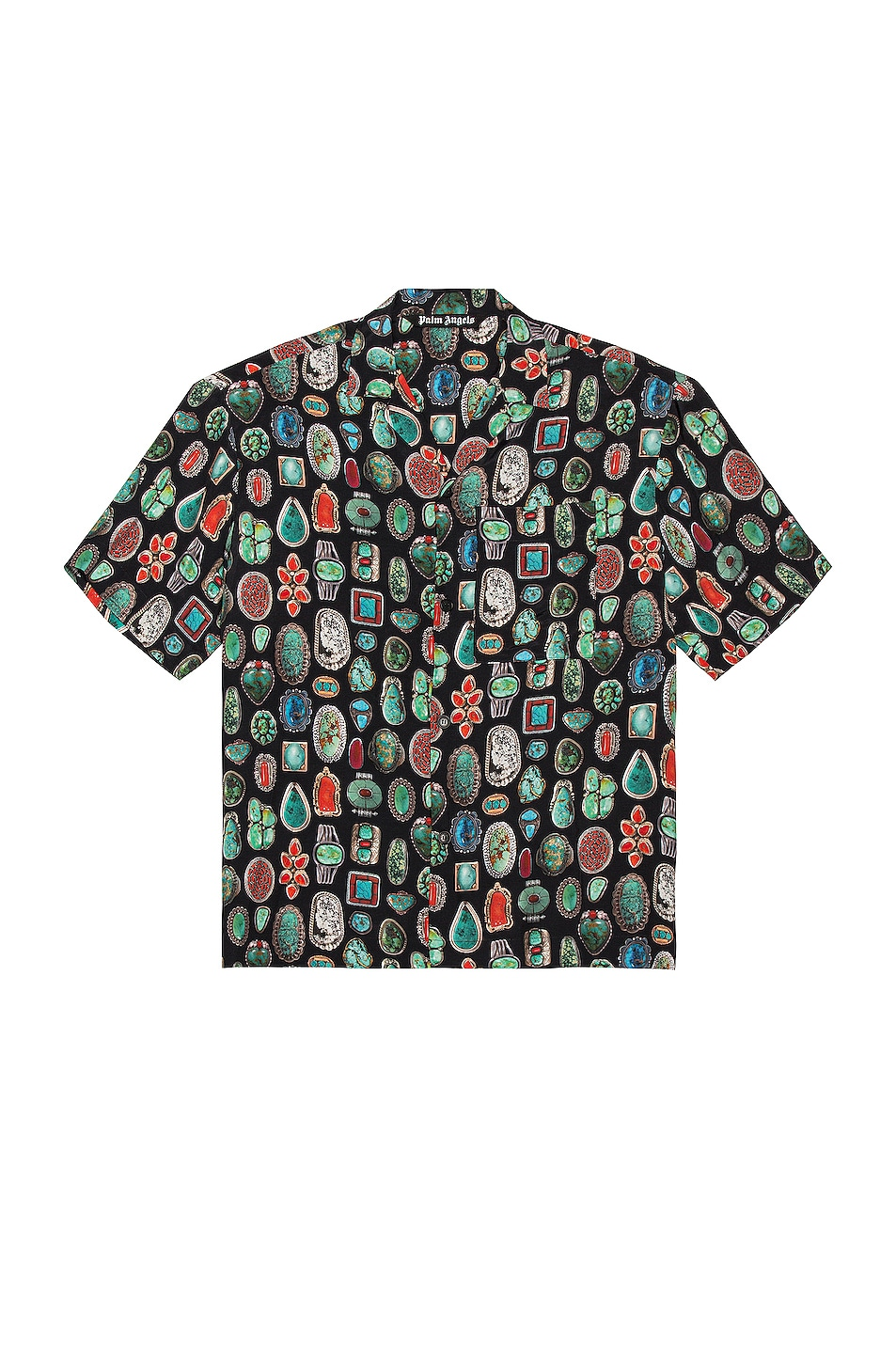Image 1 of Palm Angels Jewels Bowling Shirt in Black & Multi