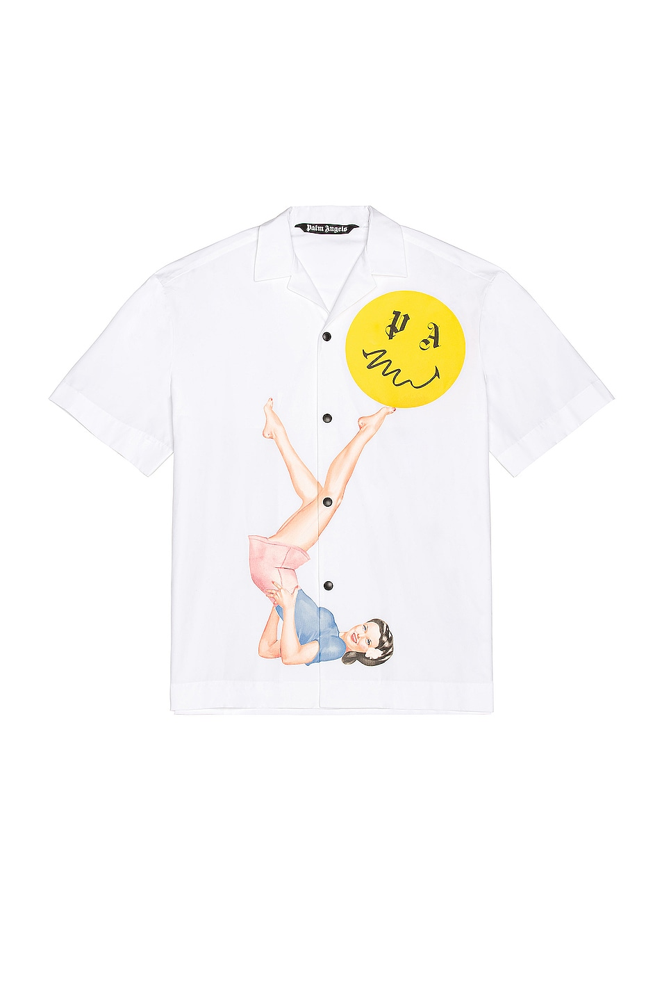Image 1 of Palm Angels Bowling Shirt in White