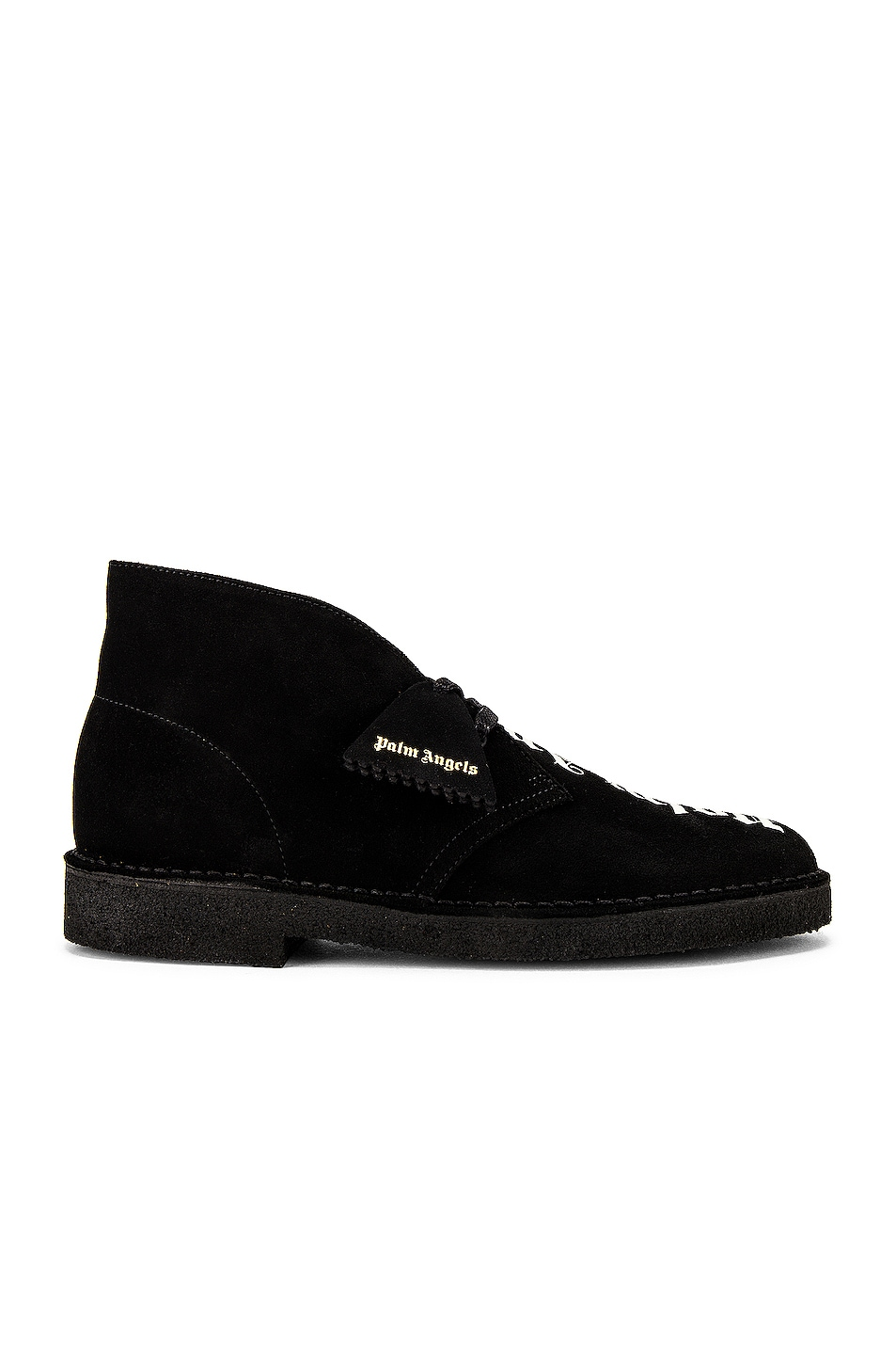 Image 1 of Palm Angels Logo Desert Boots in Black & White