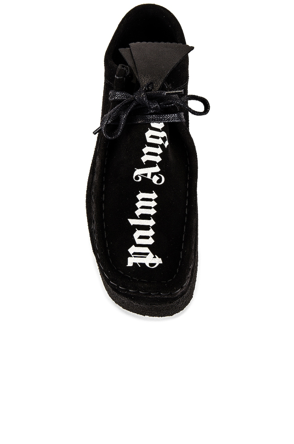 Image 1 of Palm Angels Wallabee Suede Sneaker in Black & White