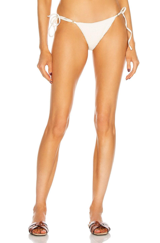 Image 1 of Palm Talise Bikini Bottom in Smocked Ivory