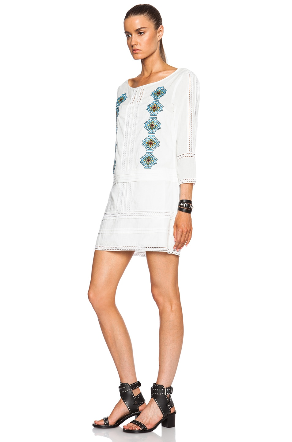 Image 2 of Pam & Gela Embroidered Dress in White