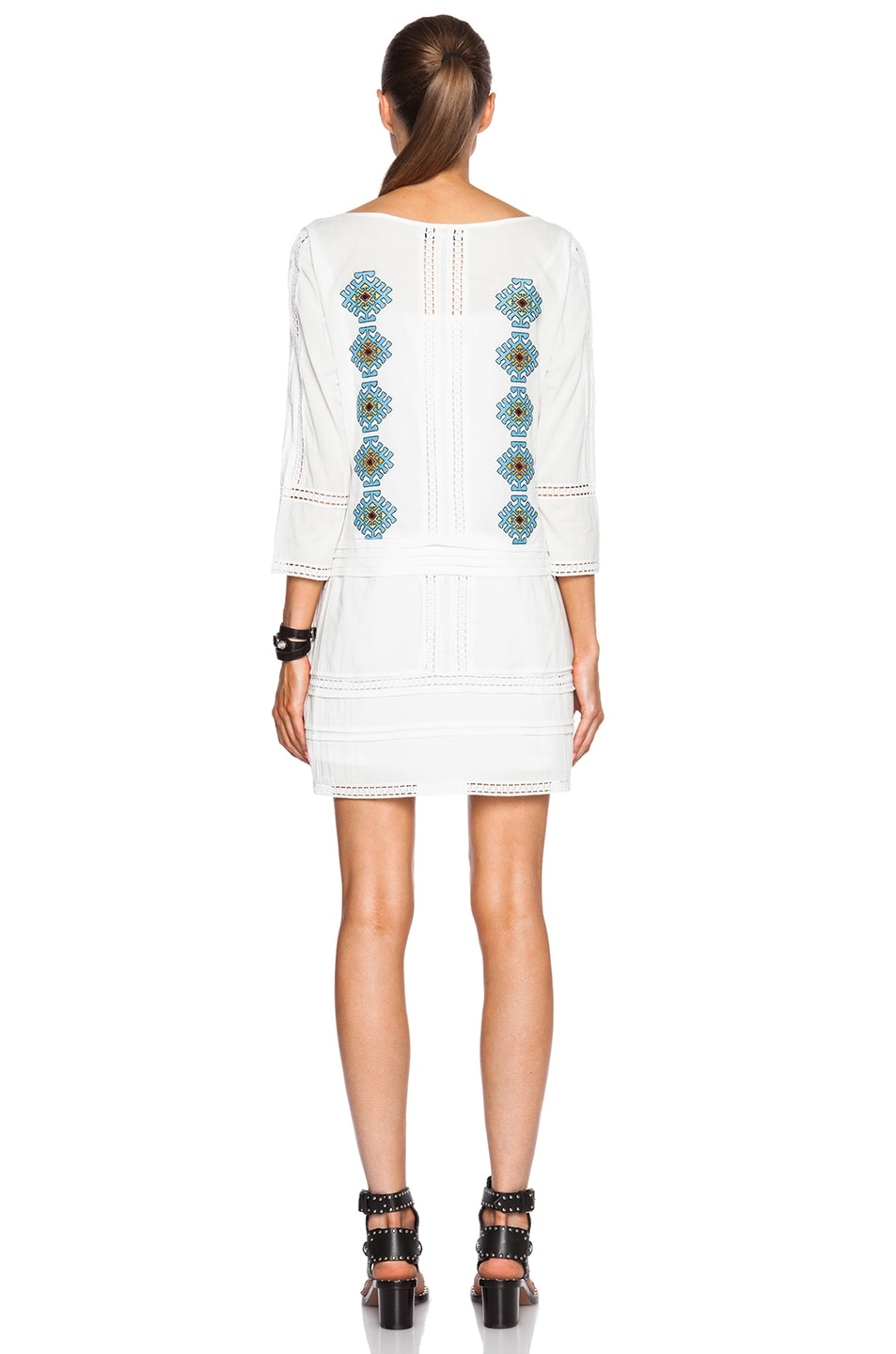 Image 4 of Pam & Gela Embroidered Dress in White