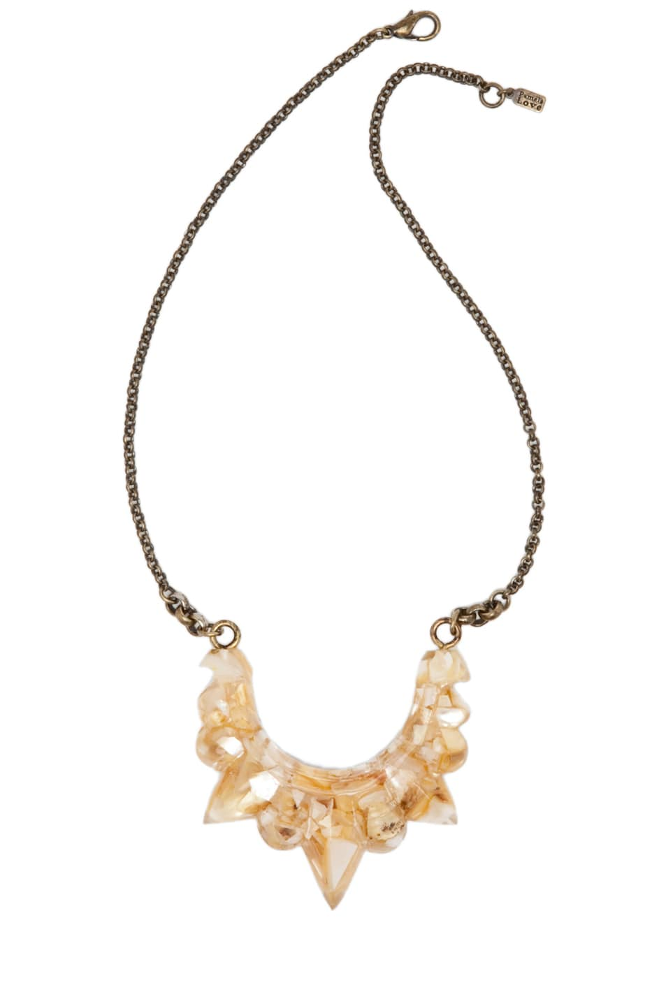 Image 1 of Pamela Love Resin Tribal Spike Necklace in Crushed Shell Resin