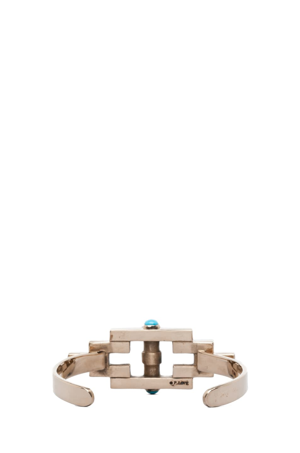 Image 3 of Pamela Love Empire Reflection Cuff in Turquoise