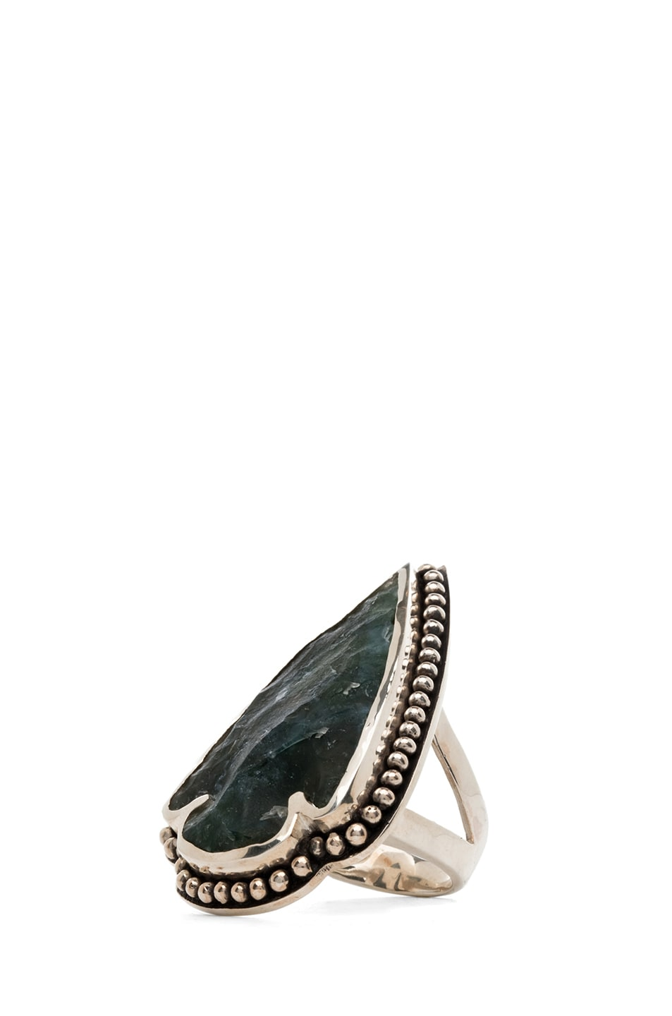 Image 1 of Pamela Love Arrowhead Ring in Green