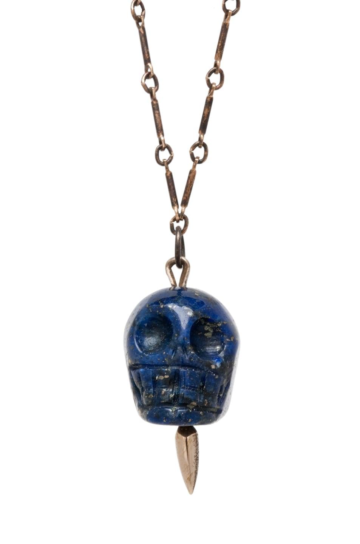 Image 1 of Pamela Love Mini Skull Lapis Pendant in Bronze