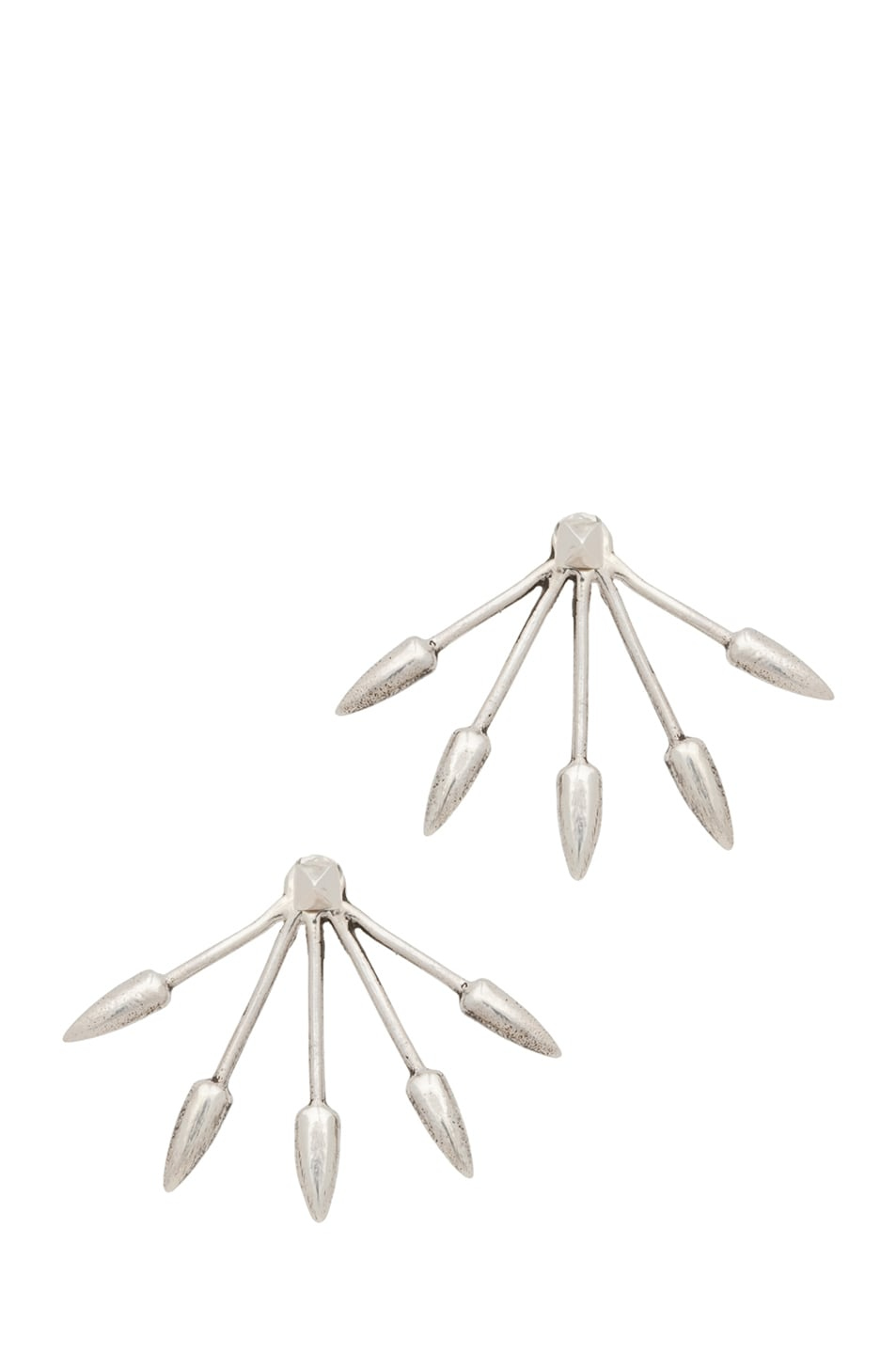 Image 1 of Pamela Love Five Spike Stud Earrings in Sterling Silver