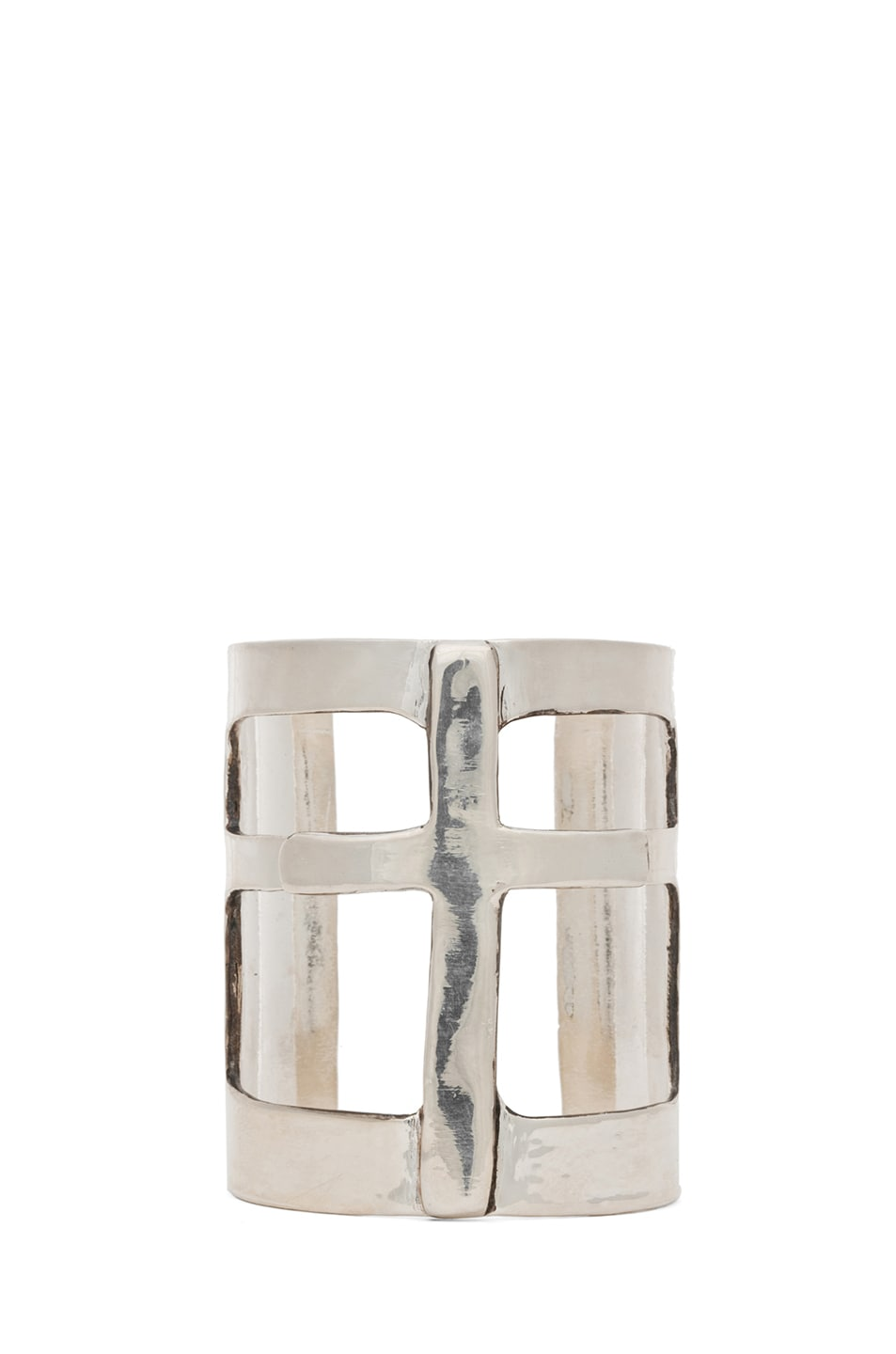 Image 1 of Pamela Love Cross Cuff in Silver Plate