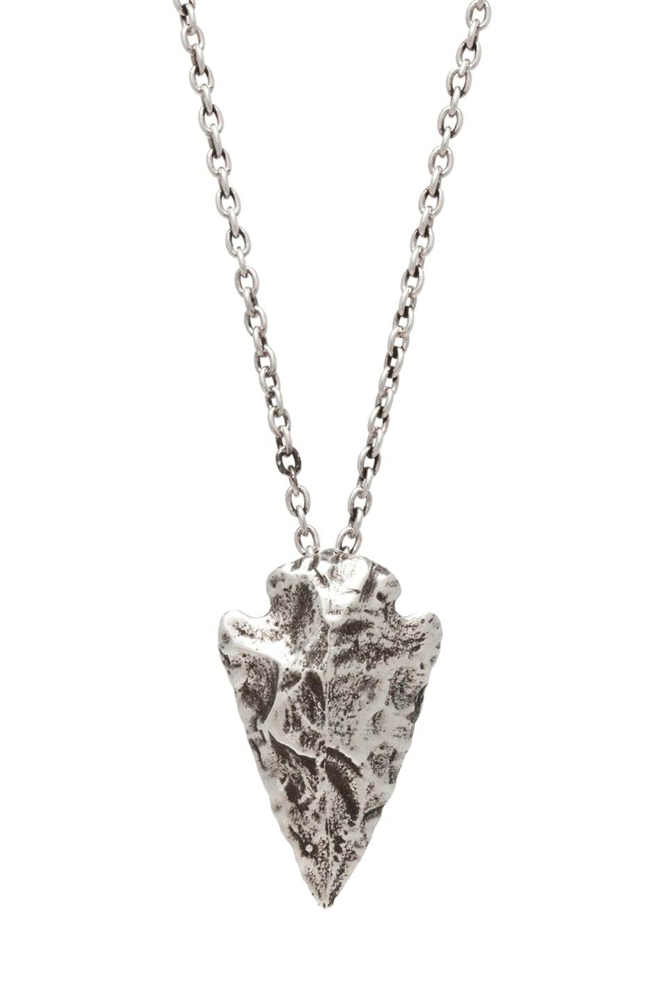 Image 1 of Pamela Love Mini Arrowhead Necklace in Antique Silver