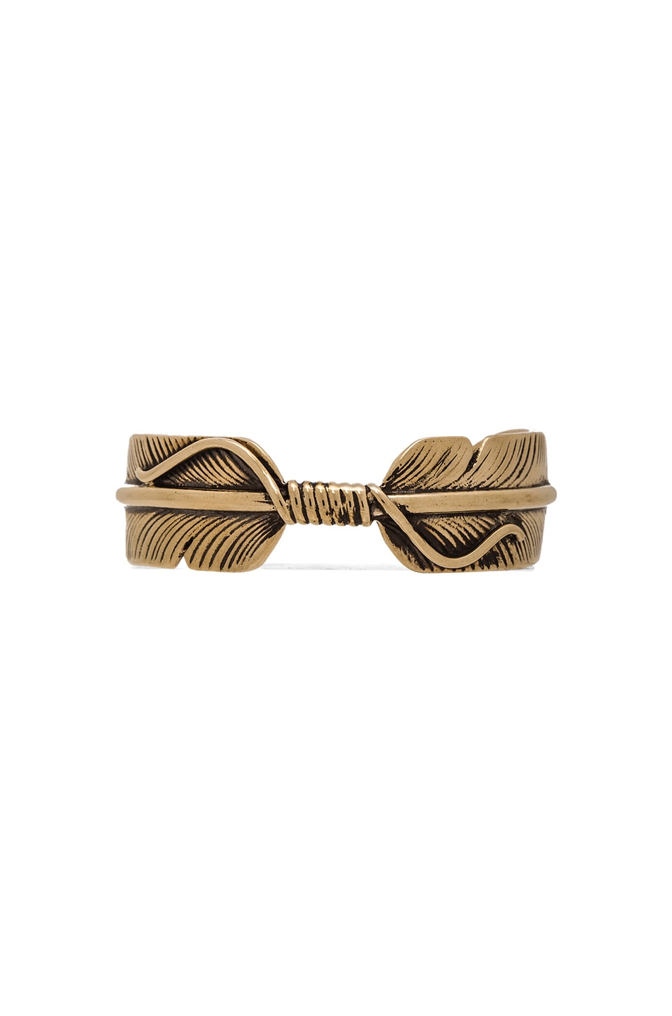 Image 1 of Pamela Love Feather Cuff in Brass