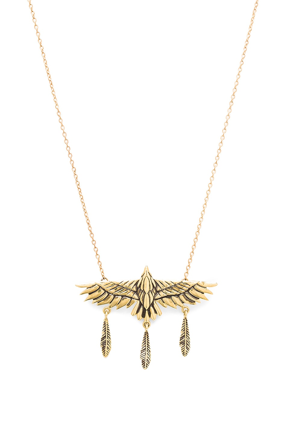 Image 1 of Pamela Love Aguila Necklace in Brass