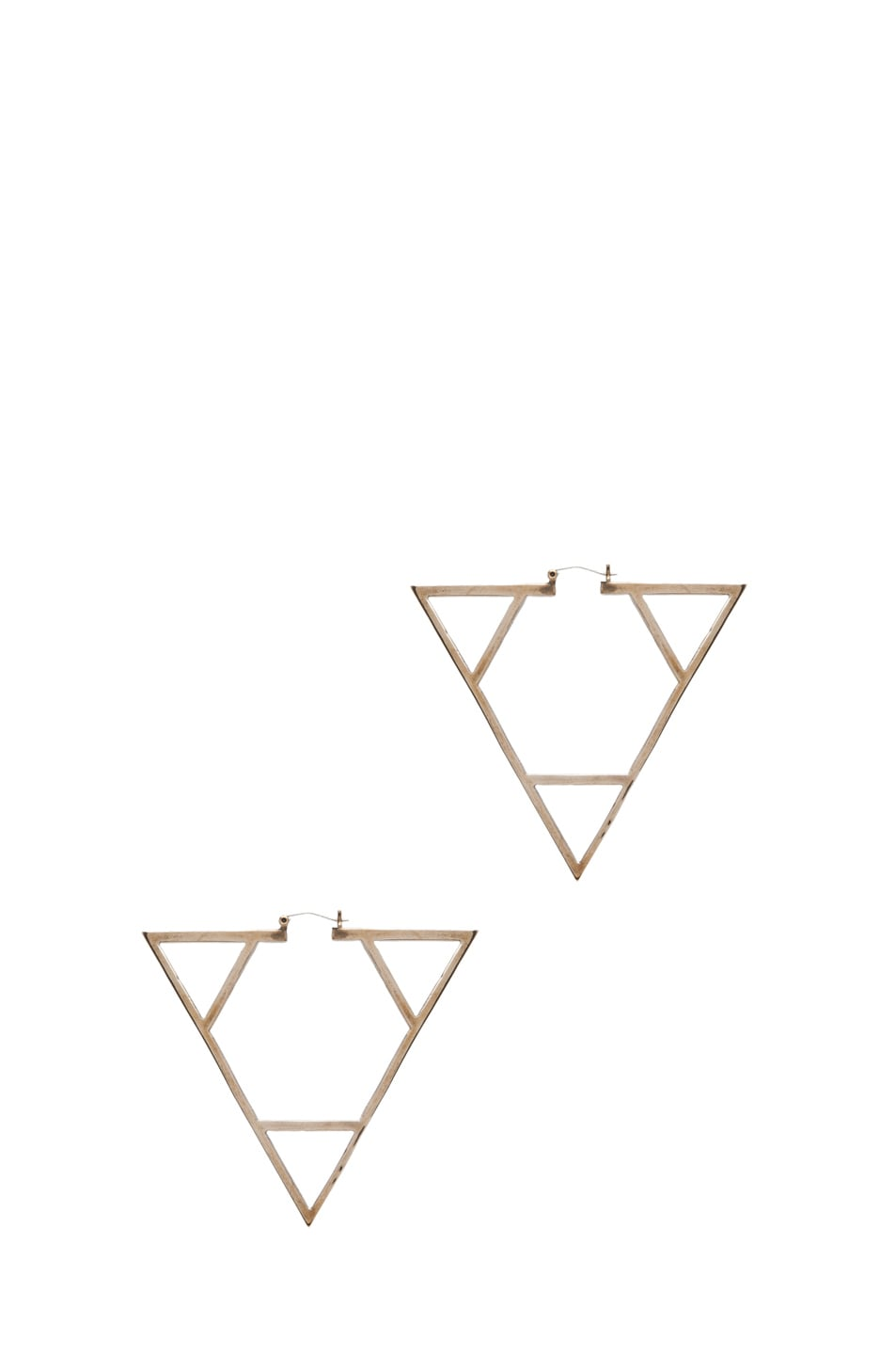 Image 1 of Pamela Love Triangle Earrings in Bronze
