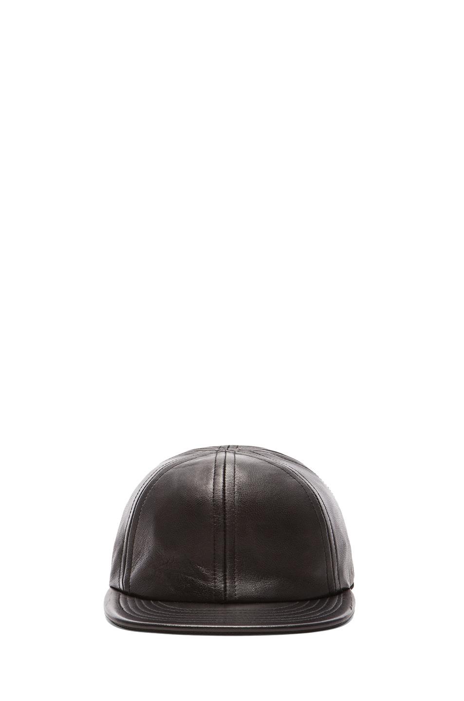 Image 1 of Patrik Ervell Lambskin Sport Cap in Black
