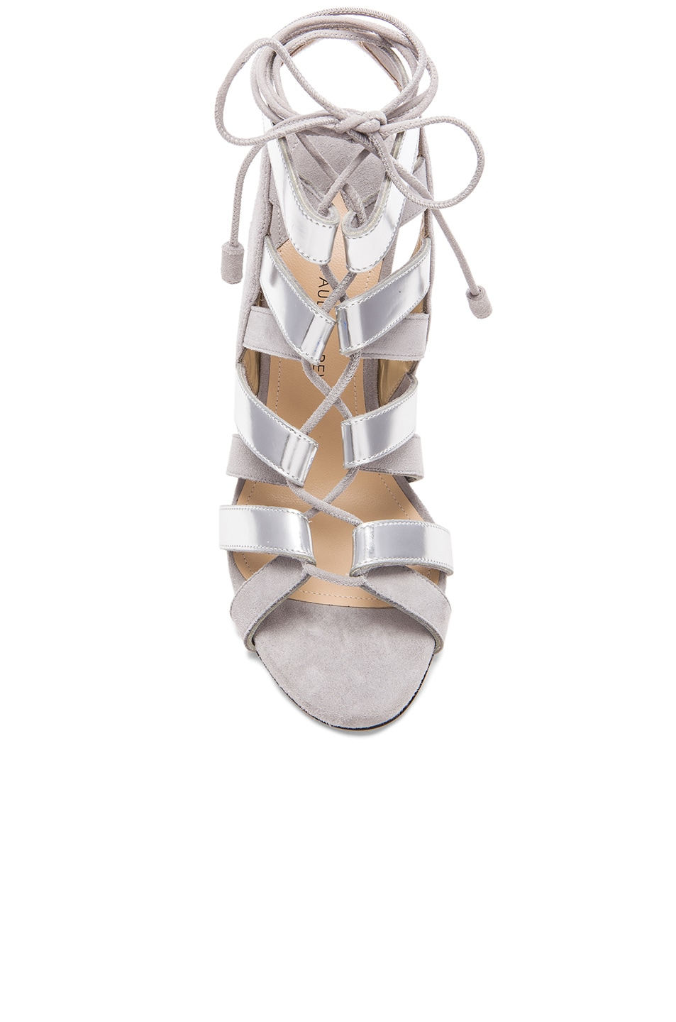 Image 4 of Paul Andrew Suede Tempest Heels in Grey & Silver