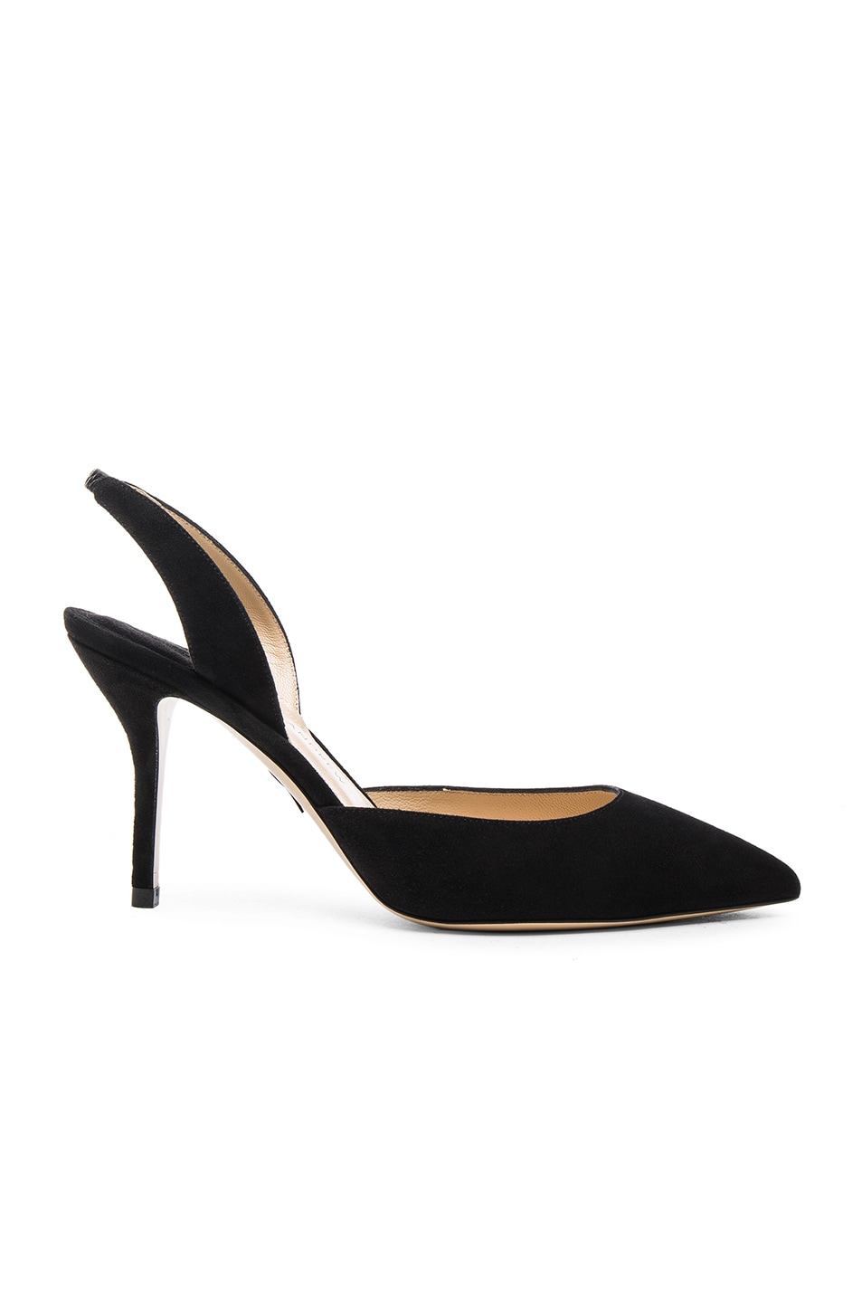 Image 1 of Paul Andrew Aw Suede Heels in Black