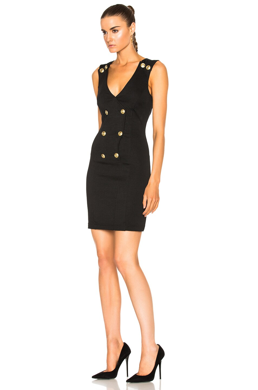 Image 2 of Pierre Balmain V-Neck Sleeveless Dress in Black