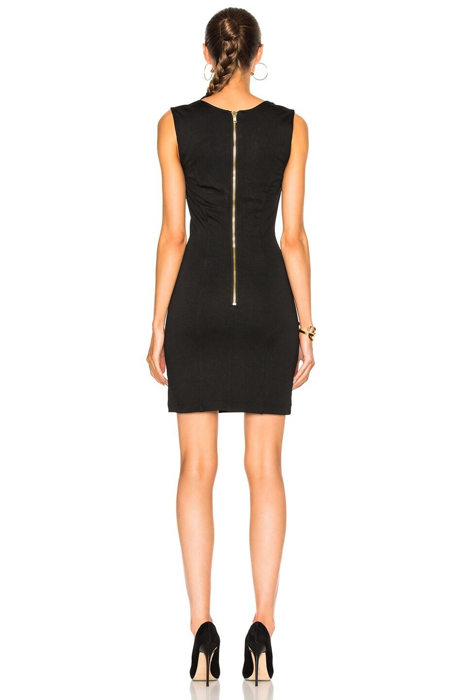 Image 4 of Pierre Balmain V-Neck Sleeveless Dress in Black