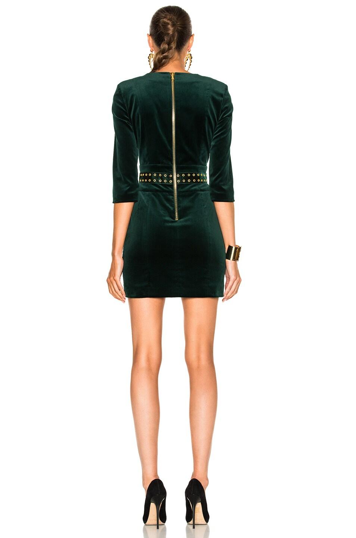 b559b44e Image 4 of Pierre Balmain Velvet Studded Dress in Green