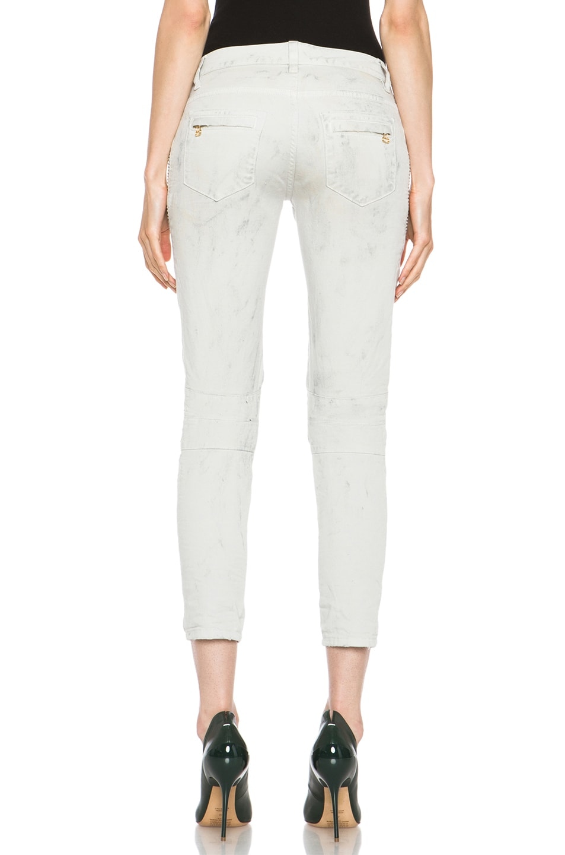 Image 4 of Pierre Balmain Biker Skinny Jean in Off White