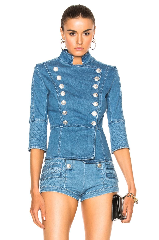 ff00f32a6a Image 1 of Pierre Balmain Denim Jacket in Blue