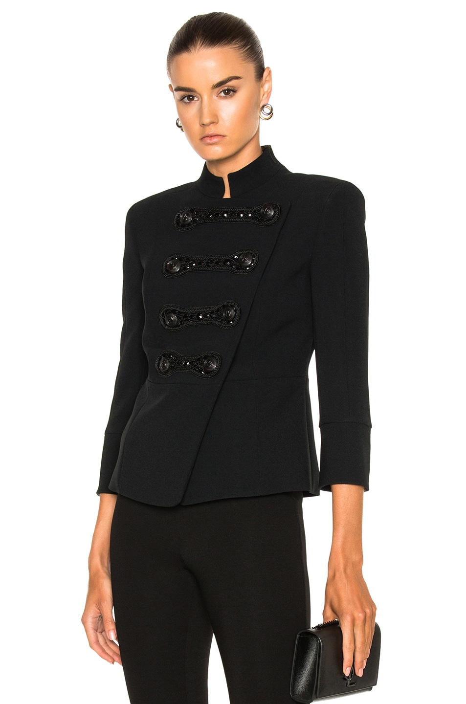 ca66ddb11a Image 1 of Pierre Balmain Military Jacket in Black