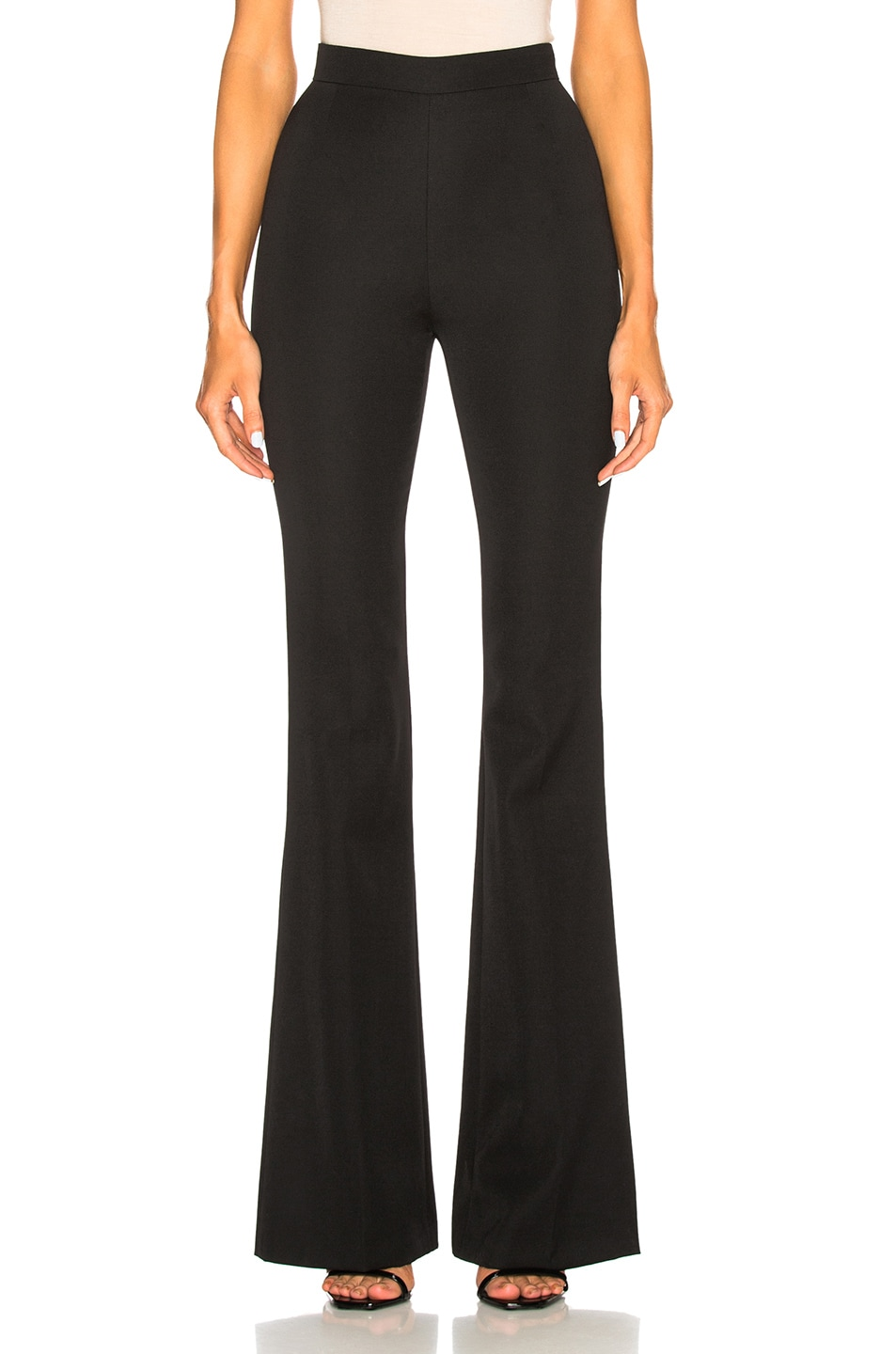 c735d96c592d Image 1 of Pierre Balmain High Waisted Flare Trouser Pants in Black