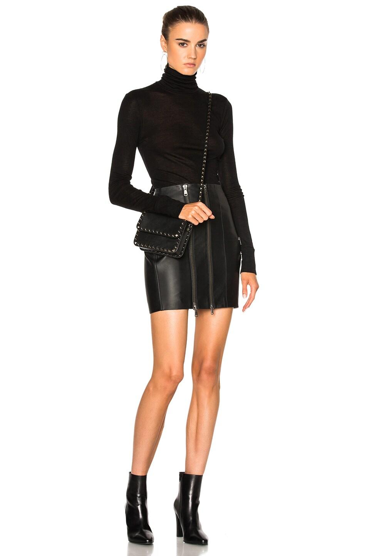 08c1bbad6 Image 5 of Pierre Balmain Leather Mini Skirt in Black