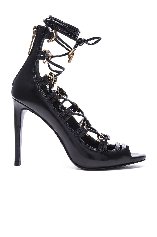 Image 1 of Pierre Balmain Lace Up Heel in Black