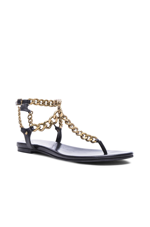 f4ca6acfa42 Image 2 of Pierre Balmain Chain Sandals in Black