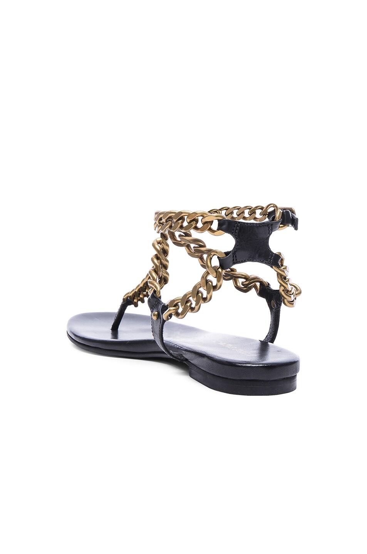 135a50dbf38 Image 3 of Pierre Balmain Chain Sandals in Black