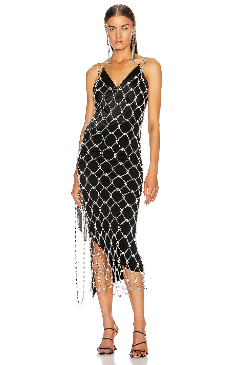 Image 1 of PACO RABANNE Chain Midi Dress in Silver