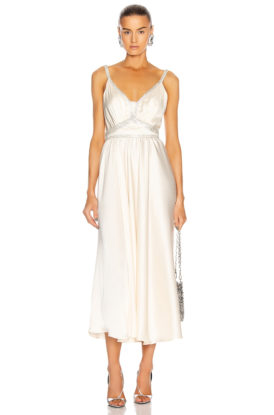 Image 1 of PACO RABANNE Light Satin Gown in Ecru