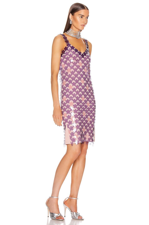 Image 2 of PACO RABANNE Chainlink Midi Dress in Purple