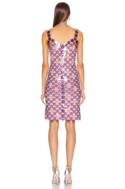 Image 3 of PACO RABANNE Chainlink Midi Dress in Purple