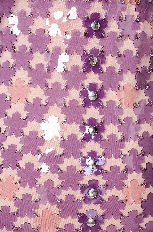 Image 4 of PACO RABANNE Chainlink Midi Dress in Purple