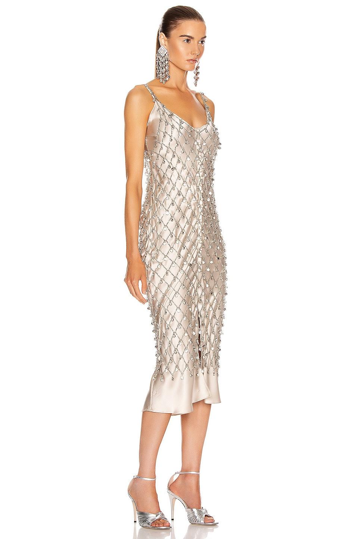 Image 2 of PACO RABANNE Crystal Net Dress in Nickel