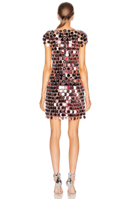 Image 3 of PACO RABANNE Sequin Mini Dress in Burgundy