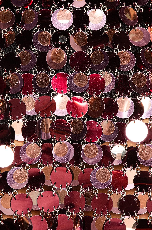 Image 4 of PACO RABANNE Sequin Mini Dress in Burgundy