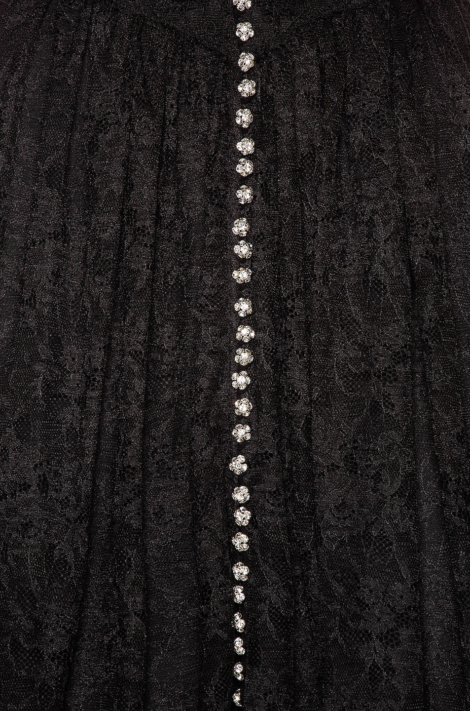 Image 5 of PACO RABANNE Lace Button Down Dress in Black