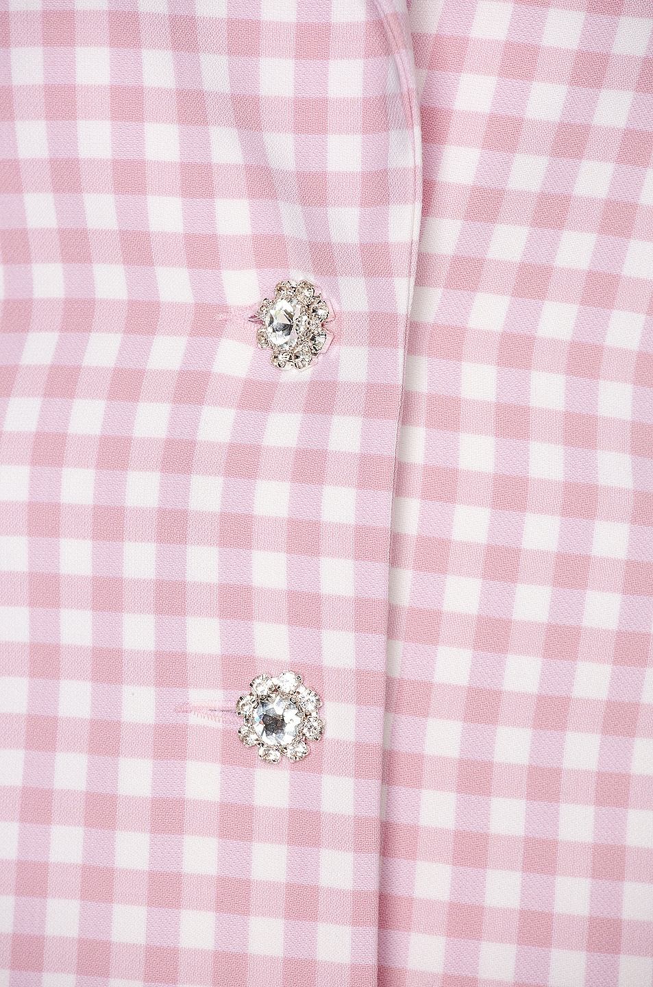 Image 6 of PACO RABANNE Plaid Check Coat in Pink Vichy