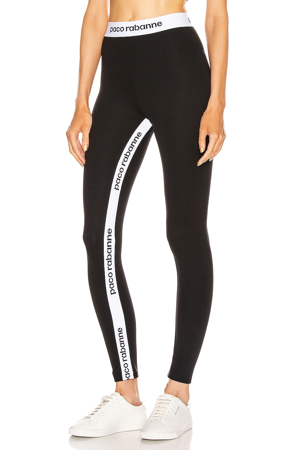 Paco Rabanne Pants Logo Tape Legging
